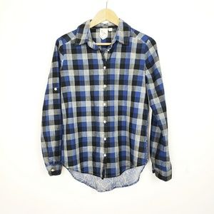 Plaid Button Down | Size XS